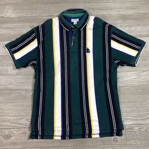 VTG Izod Striped Polo Shirt Men's Large Z60